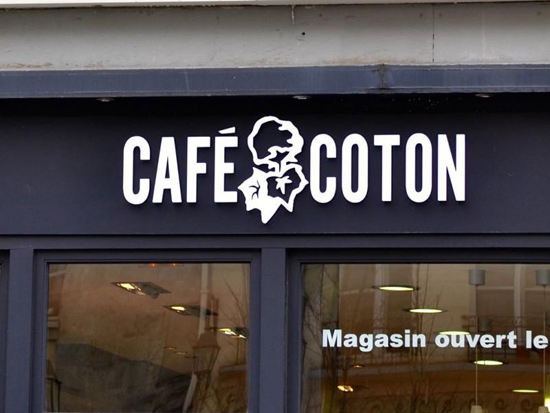 Enseigne Café Coton