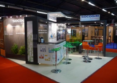Habillage du stand Socogim (Salon Amif)
