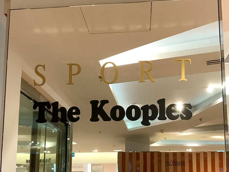 Adhésif THE KOOPLES au Printemps Haussmann