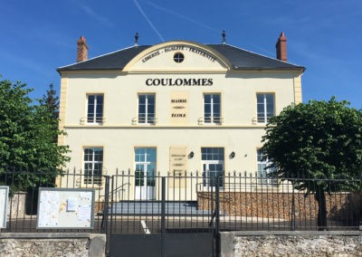 Marquage de la façade de la Mairie de Coulommes
