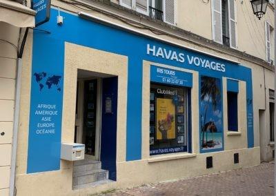 Habillage de façade : Havas Voyages