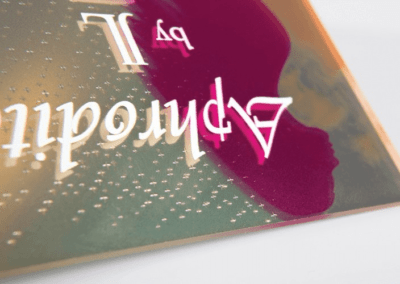 Impression sur plaque transparente avec blanc de soutien