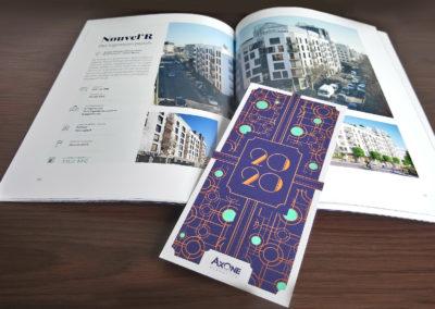 Axone : Pochettes cartonnées, Book institutionnel, Carte de voeux