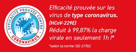 Efficacité prouvée contre le coronavirus