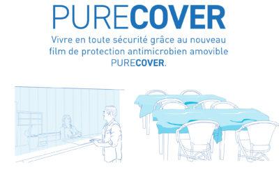 PureCover®, le nouveau film antimicrobien et non adhésif de Hexis