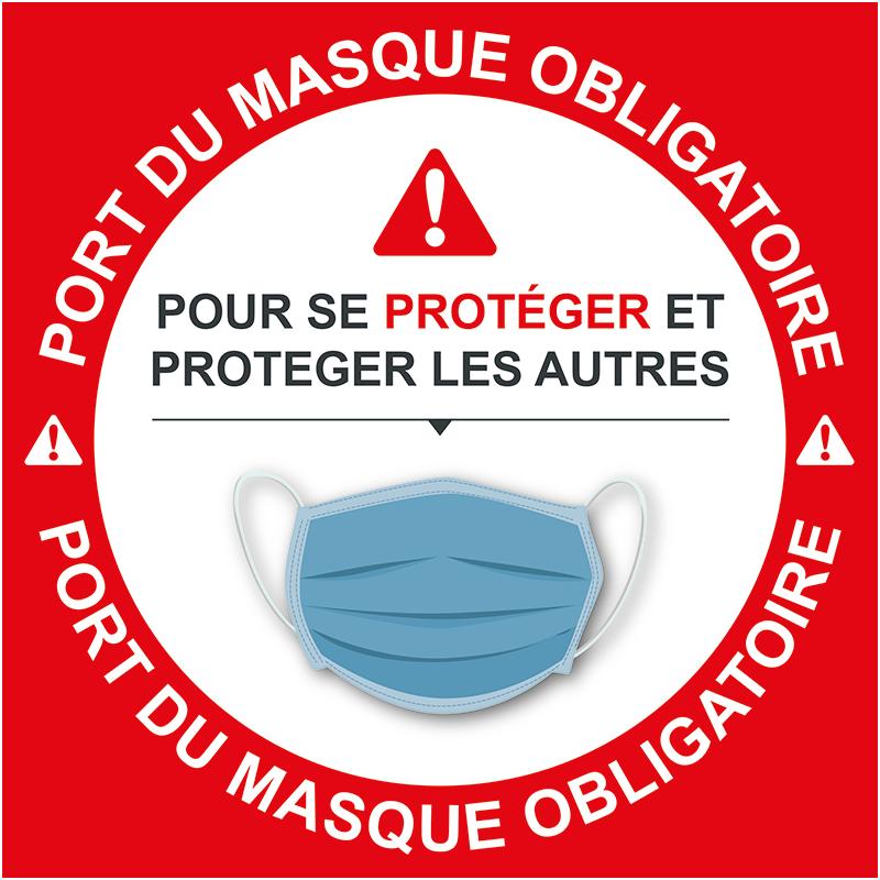 Adhésif vitrine Masque obligatoire