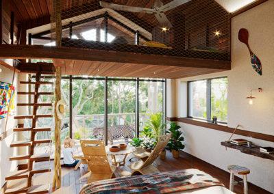 Vue Intérieur Lodge jaguars