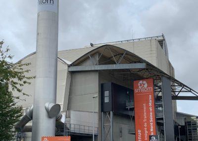 SMITOM : Habillage cheminée et Panneaux parcours pédagogique