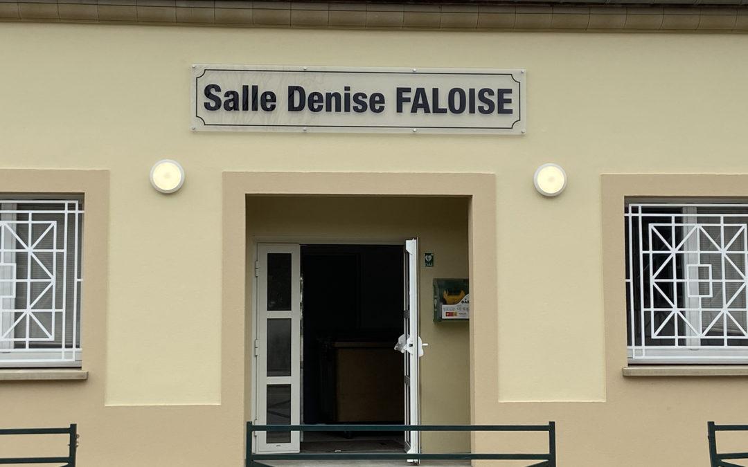Mairie de Jablines – Plaque salle communale Denis FALOISE