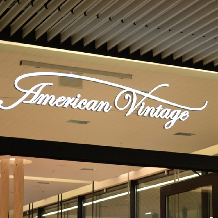 Enseigne vitrine American Vintage