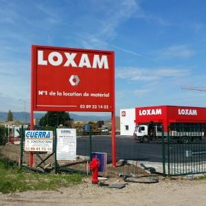 Signalétique Loxam Colmar